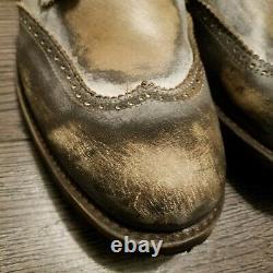 Freebird Par Steven Distressed Oscar Boots Mens 13 Brown Grey Leather Fm Osscr