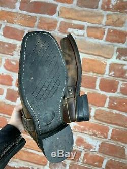 Frye 8 Distressed Rustic Motard Ingénieur Courroie Boucle Cheville Bottes De Travail