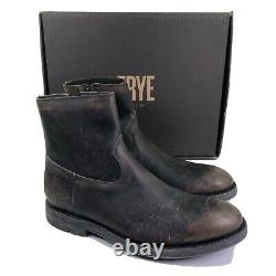 Frye Boots Bowery Inside Zip Leather Ankle Distressed Shoes 358 $