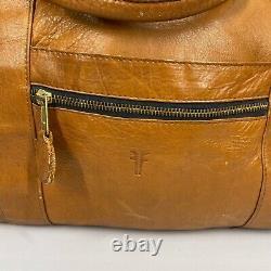 Frye Leather Grand Sac De Nuit Duffle Travel Fourre-tout Sac Brun En Détresse