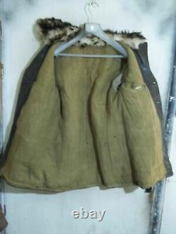 German Vintage 40 Ww2 Distressed Barnstormer Cuir De Cheval Veste En Cuir Taille De S