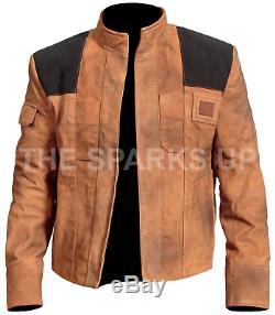 Han Solo Un Star Wars Histoire Distressed Brown Suede Veste En Cuir Meilleure Offre