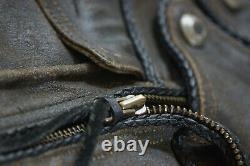 Harley Davidson Billings Distressed Brown Veste En Cuir Winged Hd Logo L
