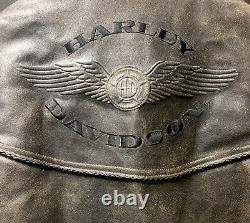 Harley Davidson Billings Pour Hommes Marron Veste En Cuir Taille S, Vintage