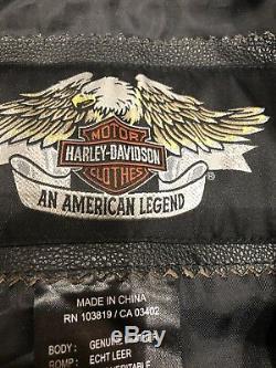 Harley Davidson Détresses Brown Homme Veste En Cuir 1 Hoodie