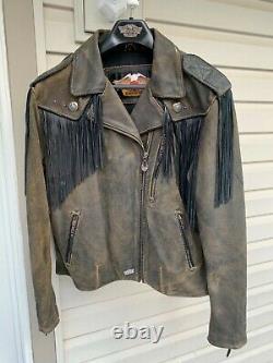 Harley Davidson Distressed Leather Billings Veste Femme Grande Nice