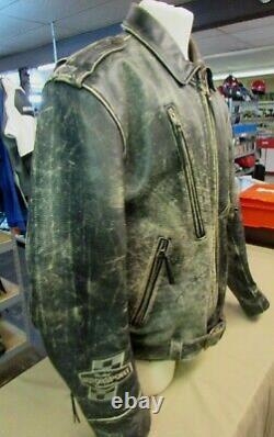 Harley Davidson Hd Distressed Brown Homme Veste En Cuir XL