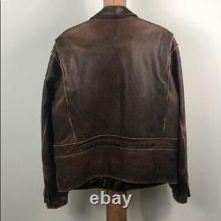 Harley Davidson Homme Détresse Hd Billings Leather Riding Jacket Grande