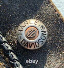 Harley Davidson Hommes Billings Cuir Brun Chaps Distressed Grand