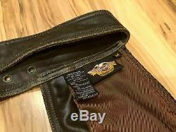 Harley Davidson Men M En Cuir Chaps Usine Distressed Brown Billings 98180-95vm