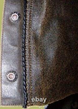Harley Davidson Mens XL Distressed Brown Billings Chaps 98180-95vm