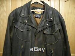 Harley Davidson XL Billings Brown Distressed Veste En Cuir