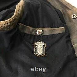 Harley-davidson Mens Leather Vest Rare Ltd Edition Distressed Brown Snap Front L