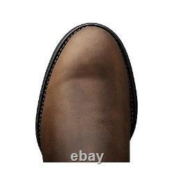 Hommes Ariat Heritage Roper Bottes De Cowboy! 10002284 (35525) Distressed Brown! Plume