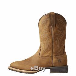 Hybrid Rancher Distressed De Ariat Hommes Brown Carré Bottes Toe 10023175
