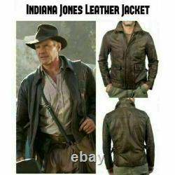 Indiana Jones Harrison Ford Classic Distressed Brown Real Leather Jacket