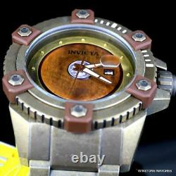 Invicta Grand Octane Sentry Automatic Distressed Steel Bronze 63mm Montre Nouvelle
