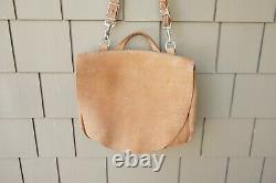 J Peterman Company'counterfeit Mailbag' $298 Leather Messenger Bag Distressed