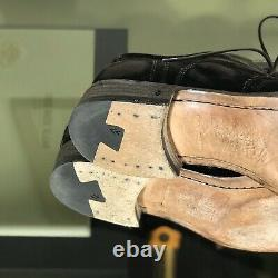 John Varvatos Fleetwood Brogue Wingtip Oxford Brown Distressed Velvet Sz 9,5