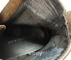 John Varvatos Star USA Star B Side Zip Distressed Bottes En Cuir - 348 $ -size 8,5 Millions