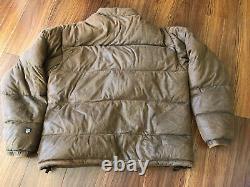 Kuhl Alf 700 Down Puffer Jacket Jasje Mens Size Med Brown Distressed Look Coat