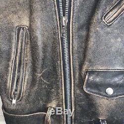 Mad Max Vintage Post Apocalypse En Difficulté Brown Veste En Cuir Motos