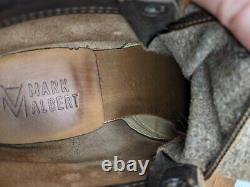 Mark Albert Bottes Outrider Boot Waxy Détresse Taille 7.5 D Hommes Fabriqué Aux États-unis