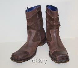 Mark Nason Bottes Amplifier Rock Sz 11 Us Distressed Brown Clouté Made In Italy