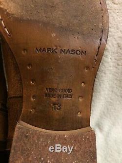 Mark Nason Dallas Hommes Bottes En Cuir Brun Distressed Caramel 67267 Taille 13