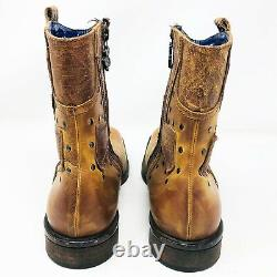 Mark Nason Rock Never Dies Distressed Studded Detail Boots Italie Taille 10