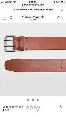 Martin Margiela 10 Mens New Leather Hook Belt L Brun