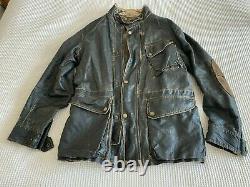 Matchless Mens Jacket Large Ltd Edition Cotton Ciré Distressed Replica 1933