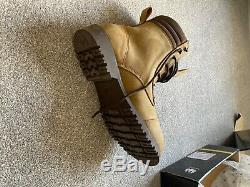 Merlin Drax Boot Urban Style Affligé Brown Imperméable Moto Bottes Nouveau