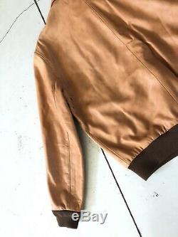 Nouveau Polo Ralph Lauren X-large A2 Farrington Veste Marron En Cuir Rrl Vtg Aviator