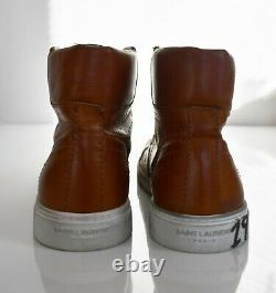 Nouveau Saint Laurent Paris Brown 1971 Bad Lieutenant Mid-top Sneaker Eur-42 Us-9