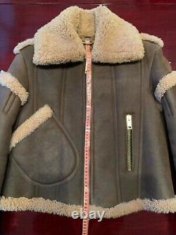 Nouvelle Veste De Vol Burberry Prorsum Fw16 Sculptural Distressed Shearling Leather