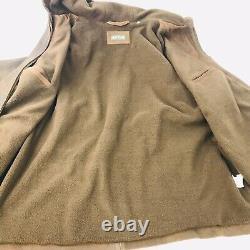 Orvis Hood Brown Brown En Cuir En Cuir XXL Manteau De Voiture Retail 495 $ Dual Zip