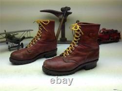 Oxblood En Détresse Vintage Fabriqué Aux Etats-unis Chippewa Dentelle Jusqu'à Logger Boots Taille 9 E