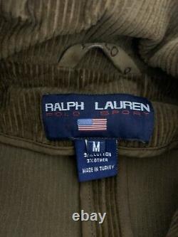 Polo Ralph Lauren Brown Corduroy Blazer Rrl Vtg Chasse Militaire En Cuir