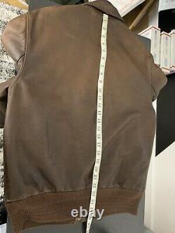 Polo Ralph Lauren Medium A2 Farrington Brown Leather Jacket Rrl Distressed Vtg