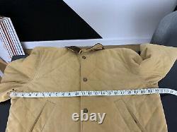 Polo Ralph Lauren Moyen Brown Suede Leather Jacket Rrl Hunting Coat Beige Vtg