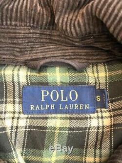Polo Ralph Lauren Petit Piercings Huile Tissu Distressed Veste Brown Rrl Vtg Rugby
