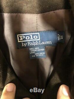 Polo Ralph Lauren Petit Veste Marron En Cuir Rrl Vtg Doux Suède Distressed Manteau