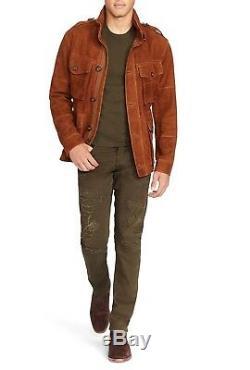 Polo Ralph Lauren Sullivan Patchwork Réparé Parker Brown Slim Fit Jeans 185 $ +