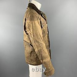 Polo Ralph Lauren Taille S Veste De Poche Patch En Coton Brun