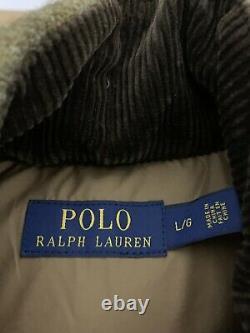 Polo Ralph Lauren Veste De Chasse Brun Vert Veste Rrl Rugby Tweed Cuir