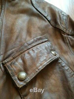 Polo Ralph Lauren Veste De Moto En Détresse