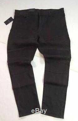 Polo Ralph Lauren Vtg Wash Moto Biker Rider Détresse Stretch Brown Skinny Jeans
