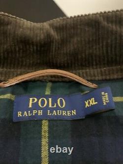 Polo Ralph Lauren XXL Southbury Brown Biker Cafe Racer Veste En Cuir Rrl Rugby