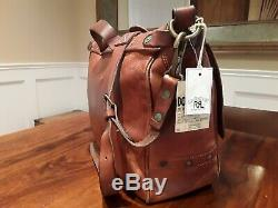 Ralph Lauren Rrl Vintage Distressed Made In Italy Cuir Mailbag Tno Sac